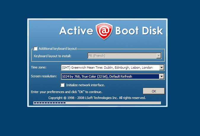 Active Boot Disk